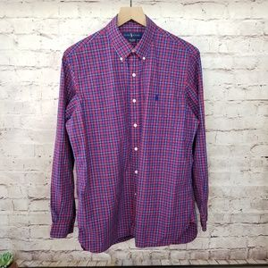 Ralph Lauren 100% Cotton Plaid Button Down Shirt